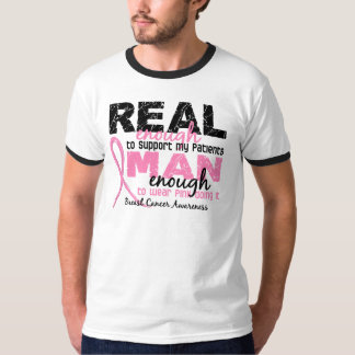 Real Enough Man Enough Patients 2 Breast Cancer T Shirt