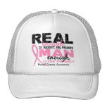 Real Enough Man Enough Patients 2 Breast Cancer Trucker Hat