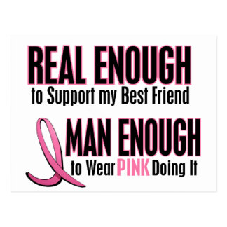 Real Enough Man Enough To Wear Pink BEST FRIEND Postcard
