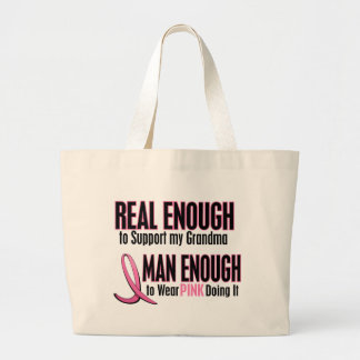 Real Enough Man Enough To Wear Pink GRANDMA Jumbo Tote Bag