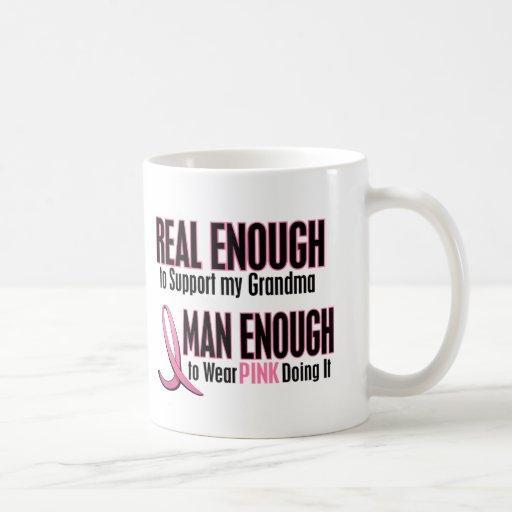Real Enough Man Enough To Wear Pink GRANDMA Mugs