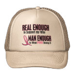 Real Enough Man Enough To Wear Pink WIFE Trucker Hat