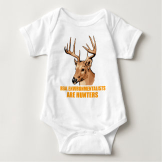 Real Environmentalists Are Hunters Baby Bodysuit