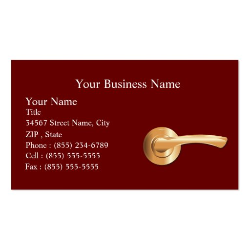 Real Estate Agency Business Card