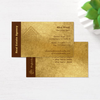 Real Estate Agency | Golden Business Card
