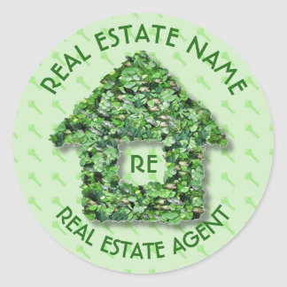 Real Estate Agency Realtor Agent And Business Name Classic Round Sticker