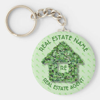 Real Estate Agency Realtor Agent And Business Name Keychain