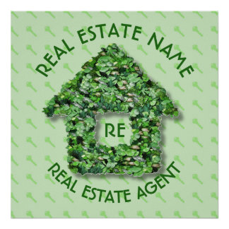 Real Estate Agency Realtor Agent And Business Name Poster