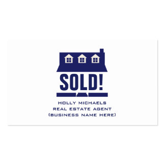 Real Estate Agent - Blue Cape Style House Business Cards