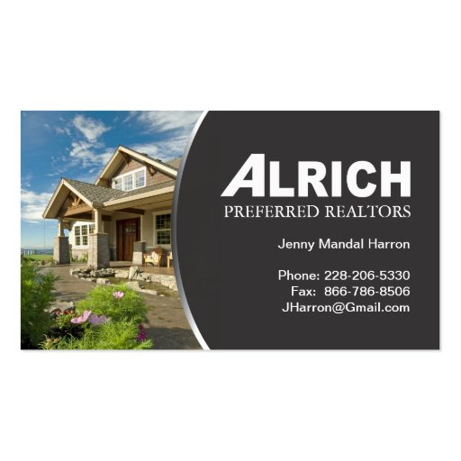 real estate agent business card zazzle
