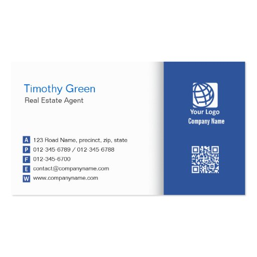Real Estate Agent Business Card Simple 06