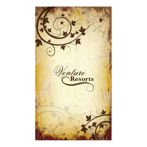 Real Estate Agent Business Card Vintage Brown