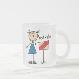 Real Estate Agent Frosted Glass Coffee Mug