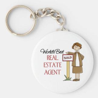 Real Estate Agent Gift Basic Round Button Keychain