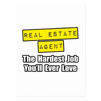 Real Estate Careers on Real Estate Agent   Hardest Job You Ll Ever Love Postcard