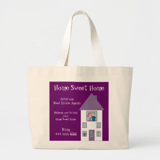Real Estate Agent Home Sweet Home Advertising Canvas Bag