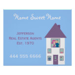 Real Estate Agent Home Sweet Home Advertising Print