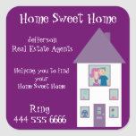 Real Estate Agent Home Sweet Home Stickers