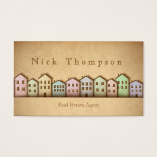 Real Estate Agent House Home Rent Sell Buy Business Card