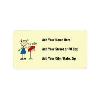 Real Estate Agent Label