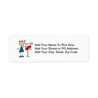 Real Estate Agent Return Address Labels