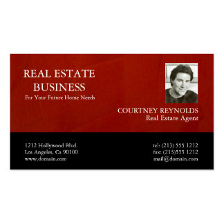 Real Estate Agent Marsala Crimson Business Cards Standard Business Cards