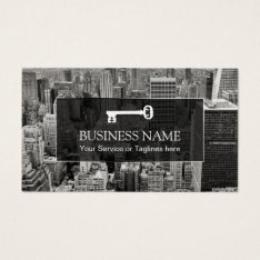 Real Estate Agent Modern City Professional Broker Business Card at Zazzle