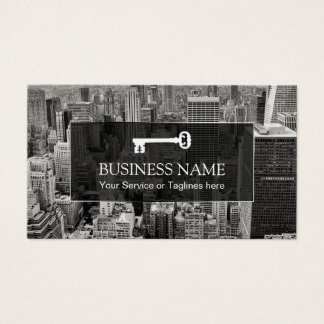 Real Estate Agent Modern City Professional Broker Business Card