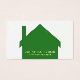 Real Estate Agent Modern Stylish Design Luxe Business Card