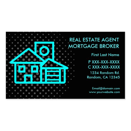 Real estate agent mortgage custom business cards