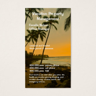 Real Estate Agent or Beach Property Management Business Card