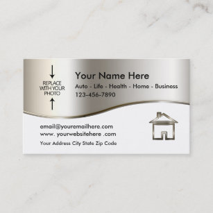 Real estate agent business cards templates zazzle real estate agent photo template business card fbccfo Choice Image
