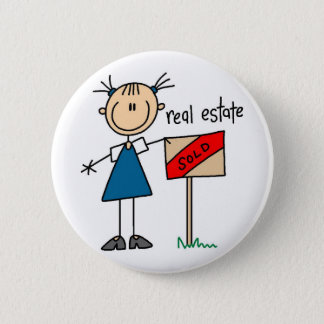 Real Estate Agent Pinback Button