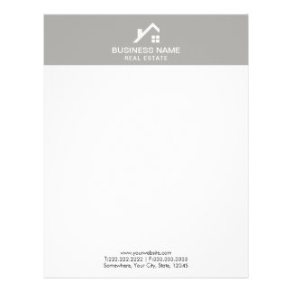 Real Estate Agent Professional House Logo Plain Letterhead