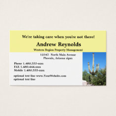 Real Estate Agent Property Manager Desert Southwes Business Card at Zazzle