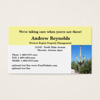 Real Estate Agent Property Manager Desert Southwes Business Card