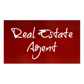 Real Estate Agent Red Business Card