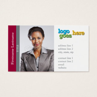 Real Estate Agent Sidebar (Horizontal) -Customize  Business Card