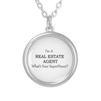 REAL ESTATE AGENT SILVER PLATED NECKLACE