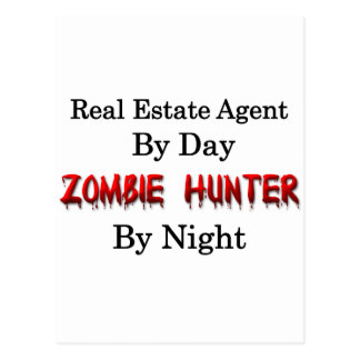 Real Estate Agent/Zombie Hunter Postcard