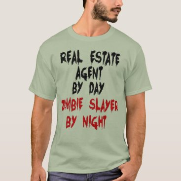 Graphix_Vixon Real Estate Agent Zombie Joke T-Shirt