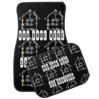 Real Estate Agent's Silver House Keys Black Car Mat