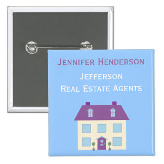 Real Estate Agents Staff Name Tag Pinback Button