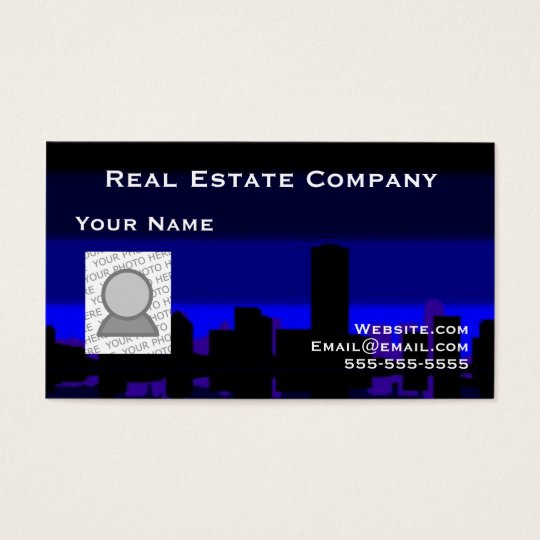 Real Estate and your photo Business Card