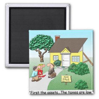 Real Estate Assets 2 Inch Square Magnet