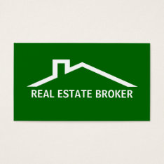 Real Estate Broker Business Cards at Zazzle