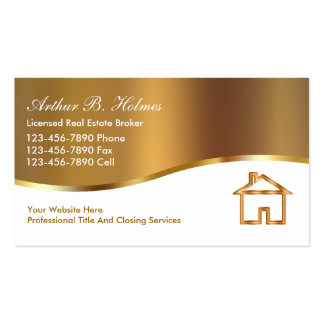 Real Estate Broker Business Cards