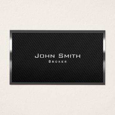 Aztec Themed Real Estate Broker Carbon Fiber Metal Framed Business Card