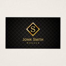Real Estate Broker Gold Monogram Business Card at Zazzle