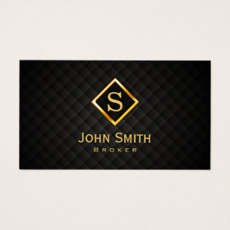 Real Estate Broker Gold Monogram Business Card